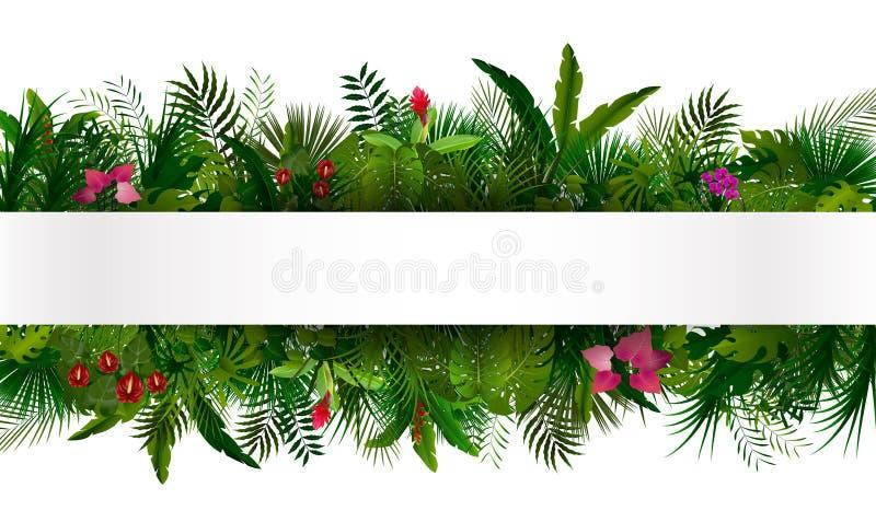 热带的叶子 您背景设计花卉的例证 库存例证