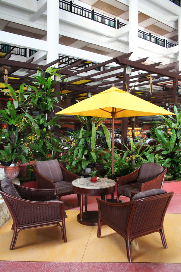 热带的咖啡馆 图库摄影