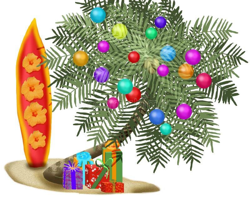 热带的圣诞树 免版税库存照片