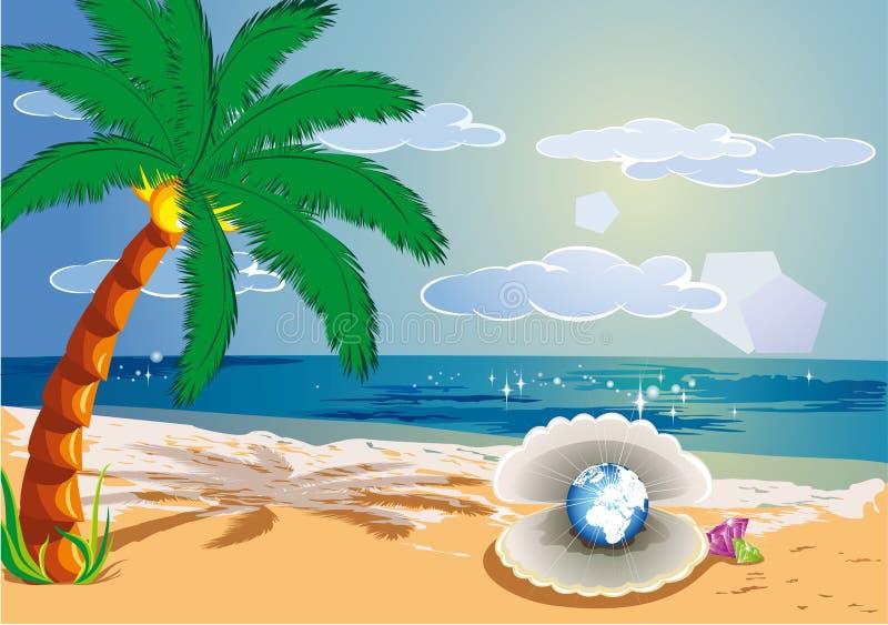 热带的天堂 向量例证