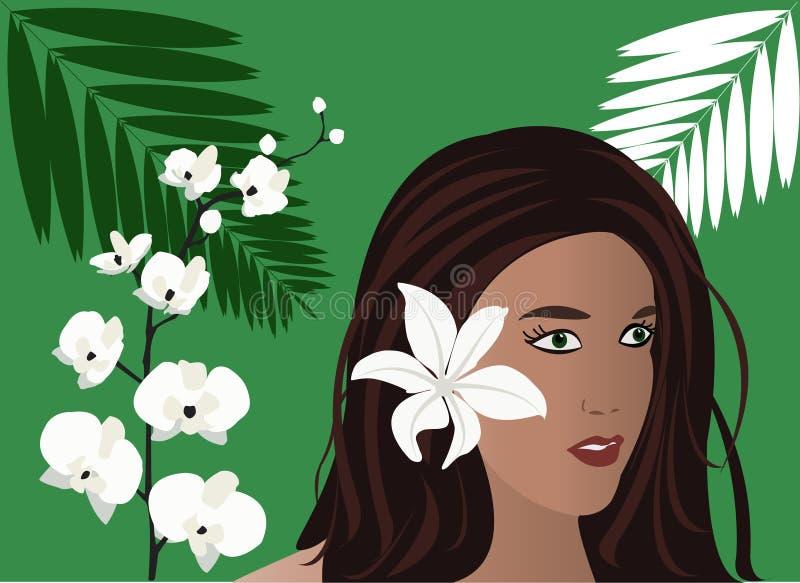 热带的女孩 图库摄影