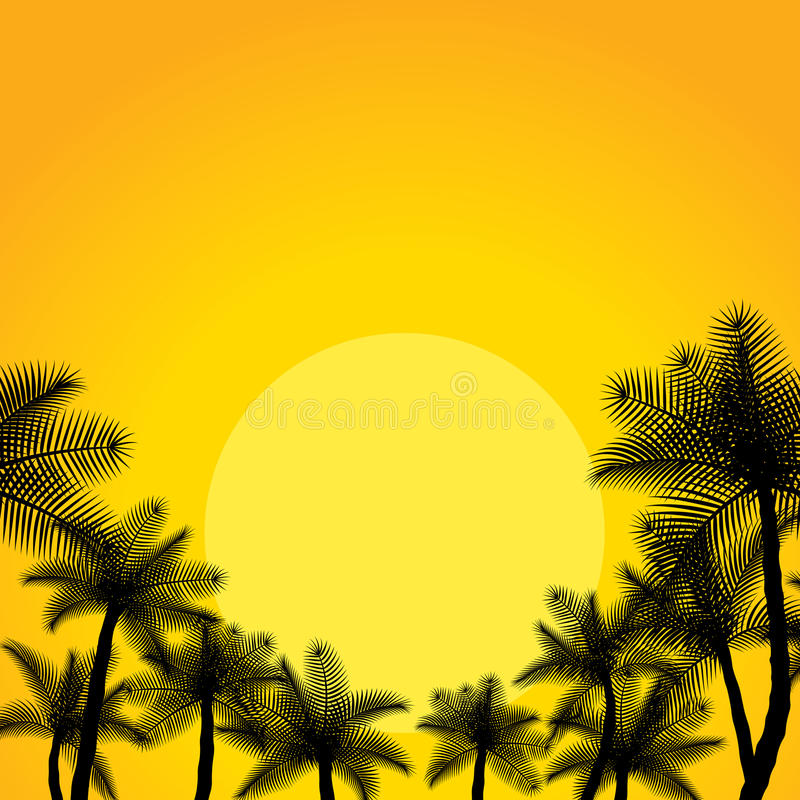 热带的横向 向量例证