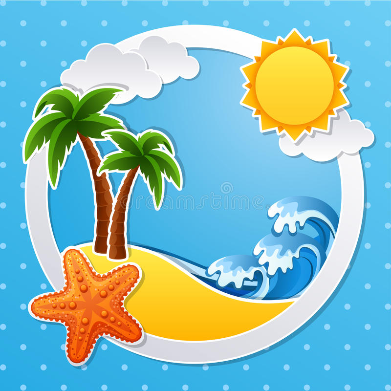 热带的海岛 向量例证