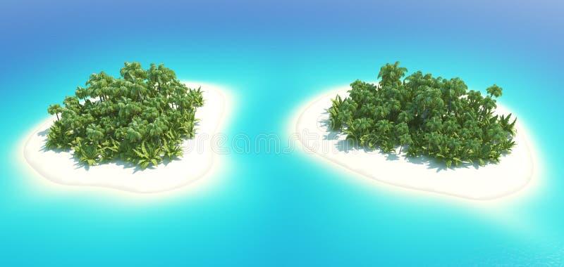 热带的海岛 库存照片