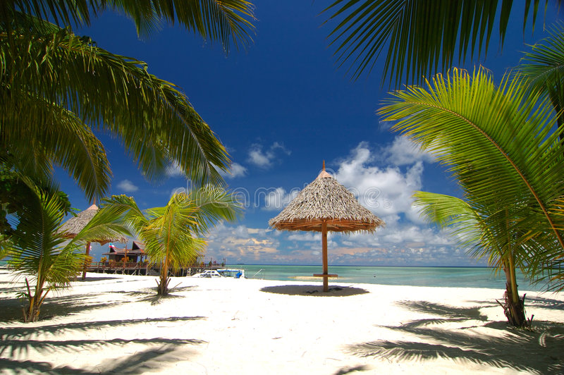 热带的海滩胜地 库存图片
