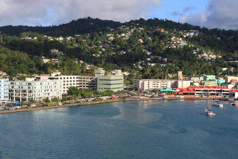 热带的港口 免版税库存图片