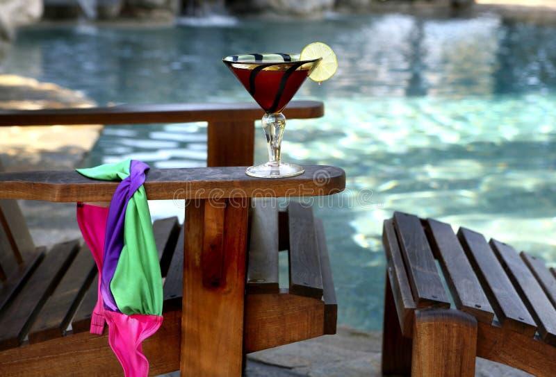 热带的游泳 免版税库存图片