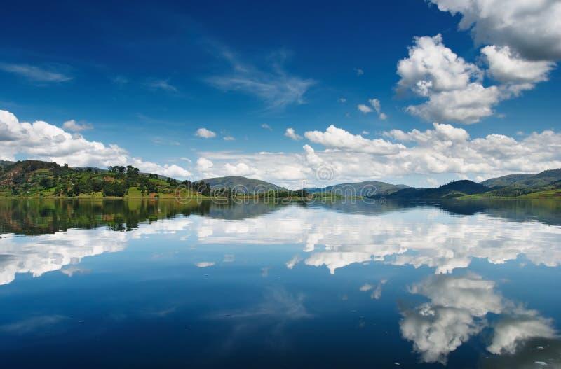 热带的湖 免版税库存照片