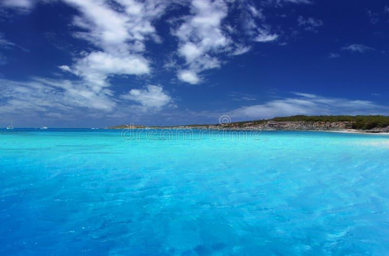 热带的盐水湖 免版税库存图片