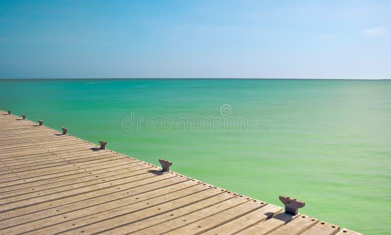 热带的码头 图库摄影