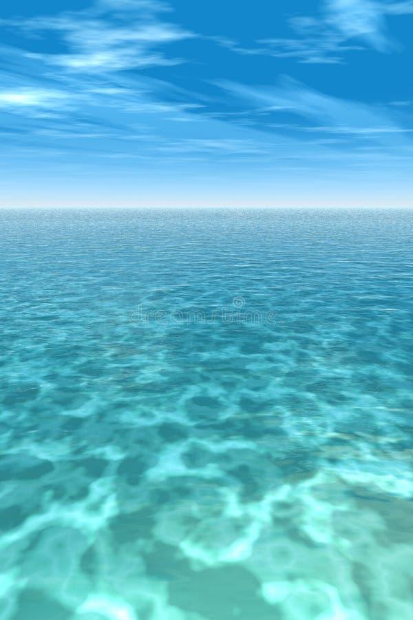 热带的礁石 向量例证