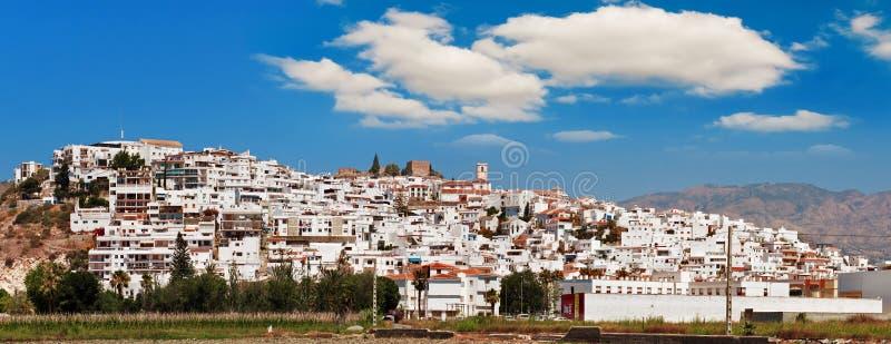 热带的肋前缘,城市Salobrena,格拉纳达,西班牙省  免版税库存图片