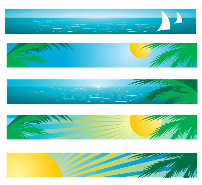 热带的背景 向量例证