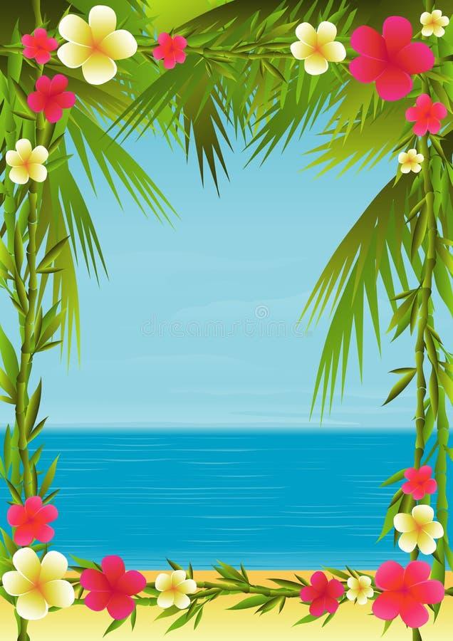 热带的节假日 向量例证