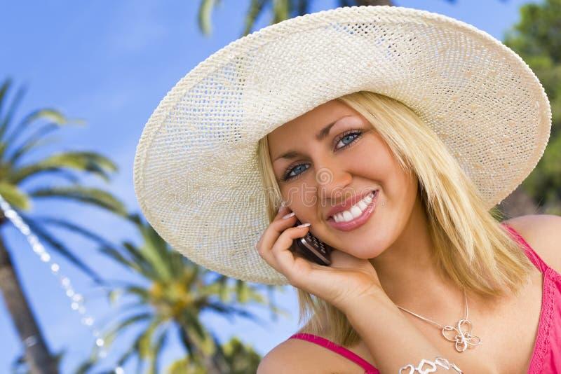 热带的phonecall 免版税库存照片
