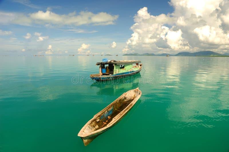 热带美好的海景 库存照片