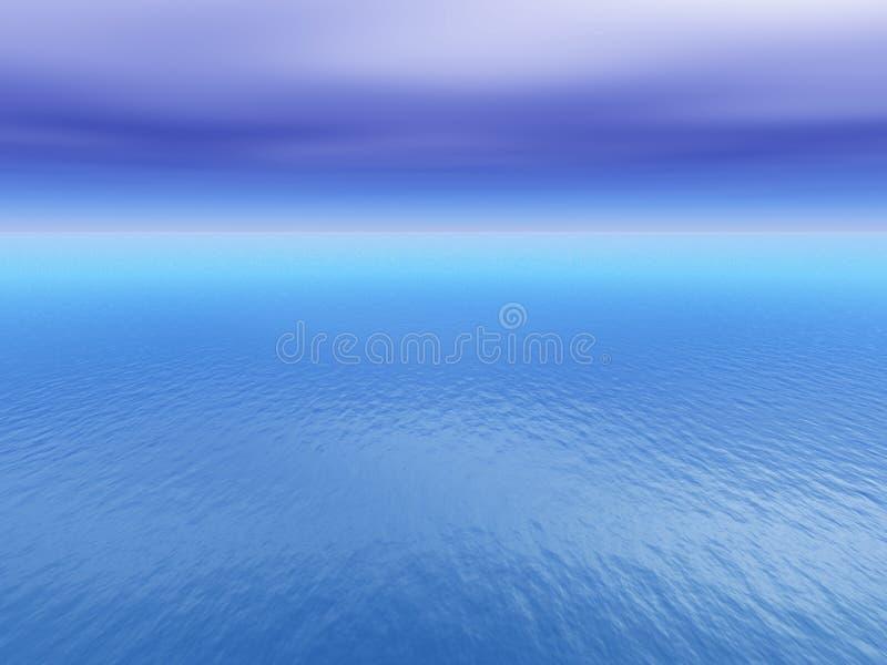 热带背景的公海 库存例证