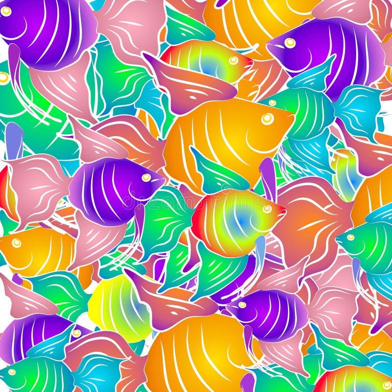 热带背景的鱼 皇族释放例证