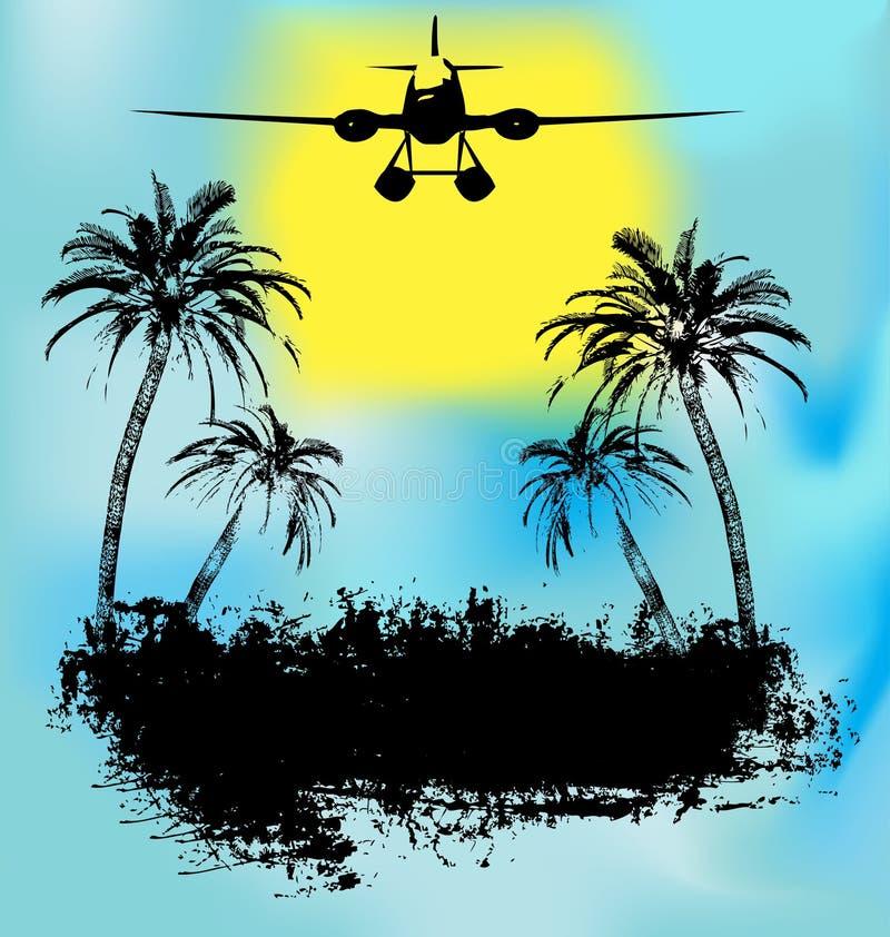 热带节假日的海岛 向量例证