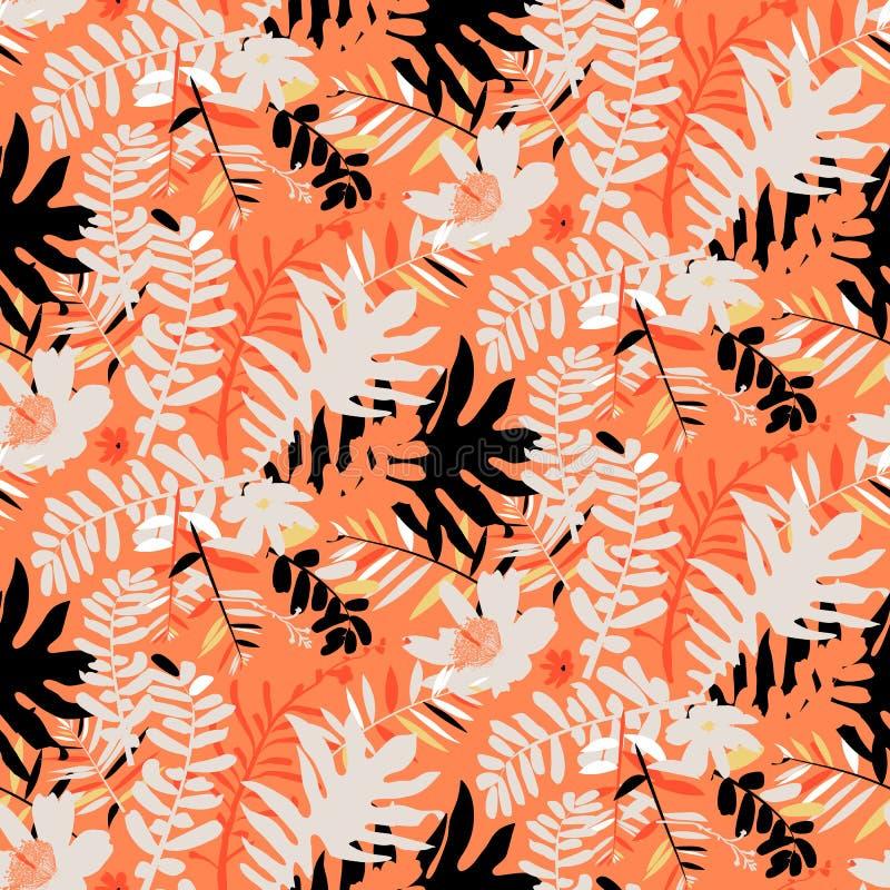 热带花卉的模式 皇族释放例证