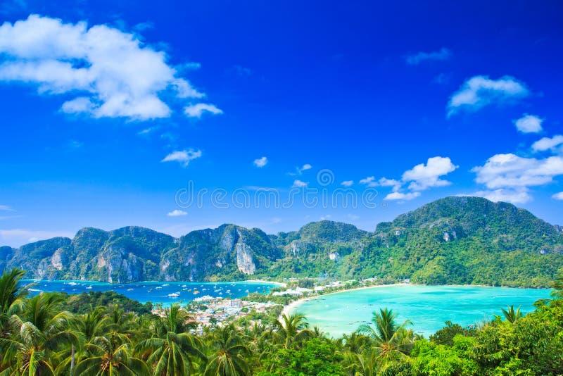热带观点海岛 库存照片