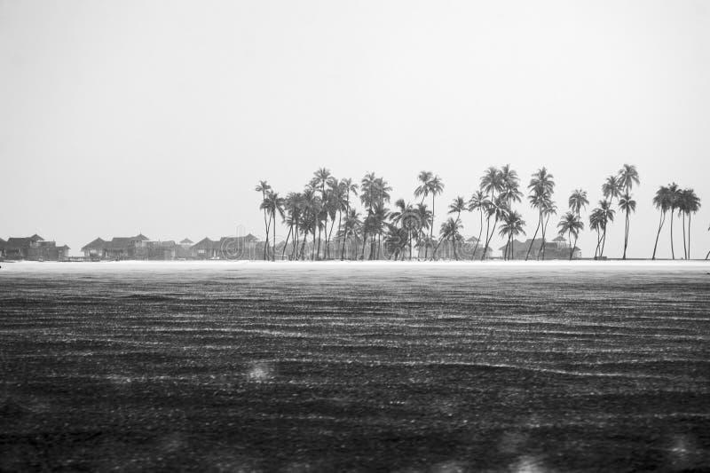 热带雨在旅馆1里 免版税库存照片