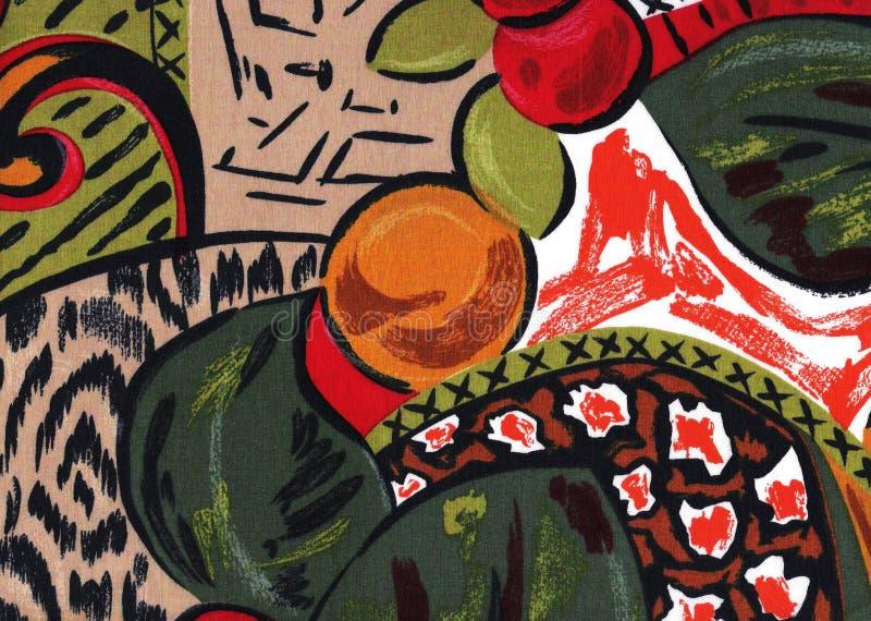 热带颜色抽象背景。 库存照片