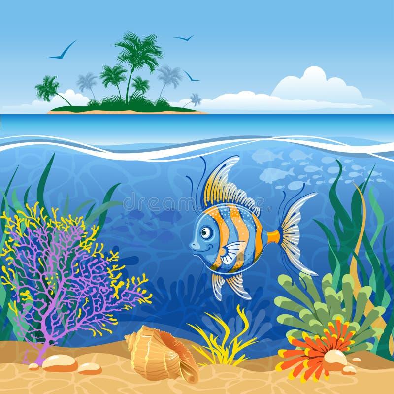 热带风景 向量例证