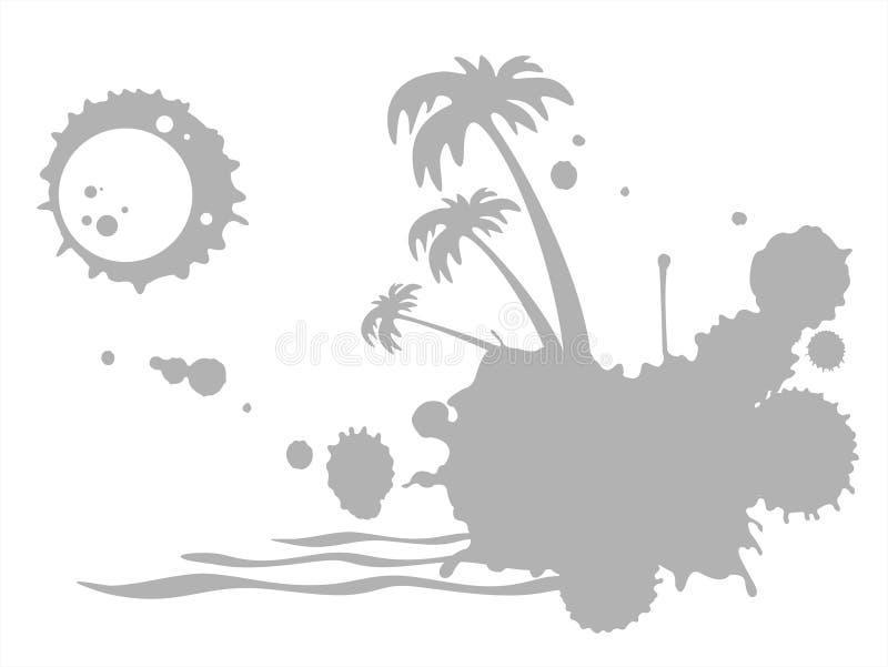热带grunge的海岛 皇族释放例证