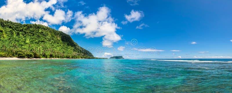 热带Lalomanu在萨摩亚 库存照片