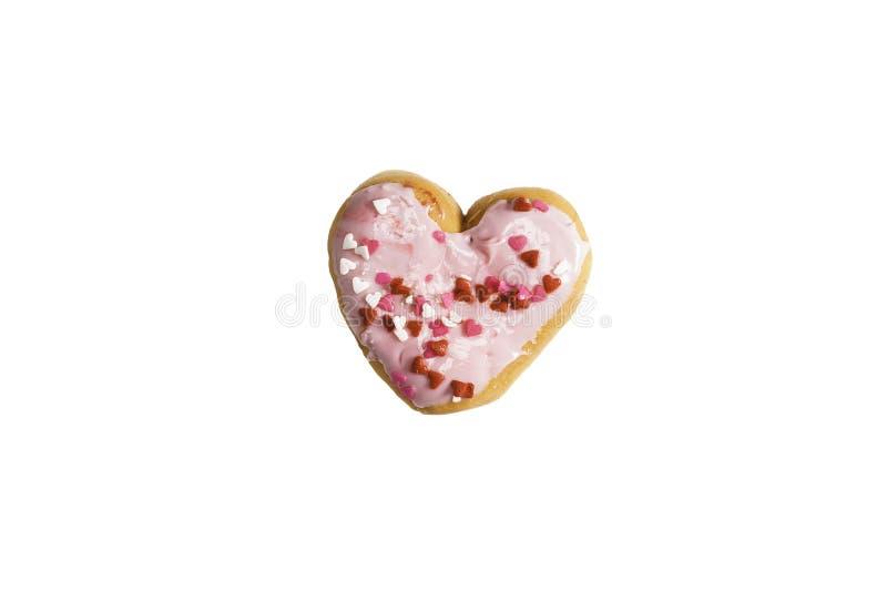 热形状的草莓多福饼 库存照片