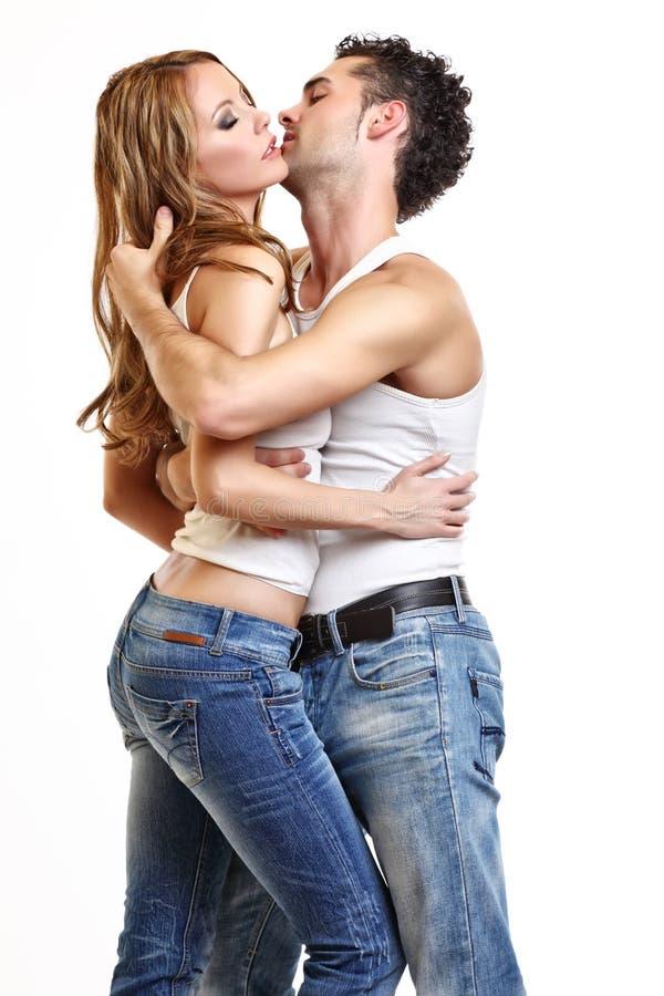 热情的夫妇 免版税库存图片