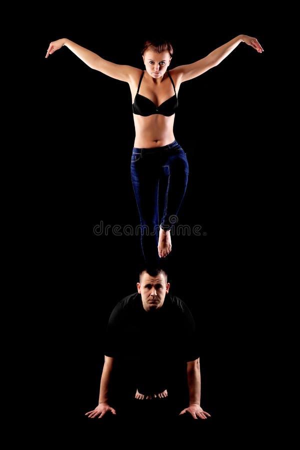 热情的跳舞夫妇 免版税图库摄影