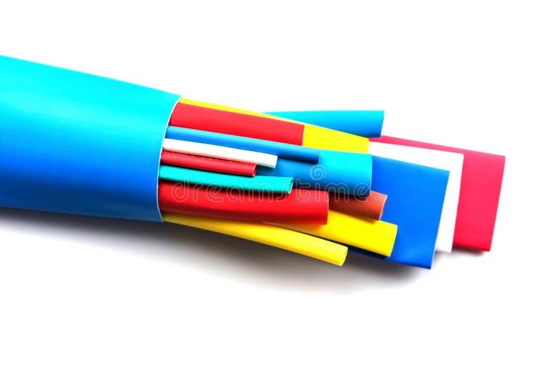 热抽缩缆绳隔离的管材组分 免版税图库摄影
