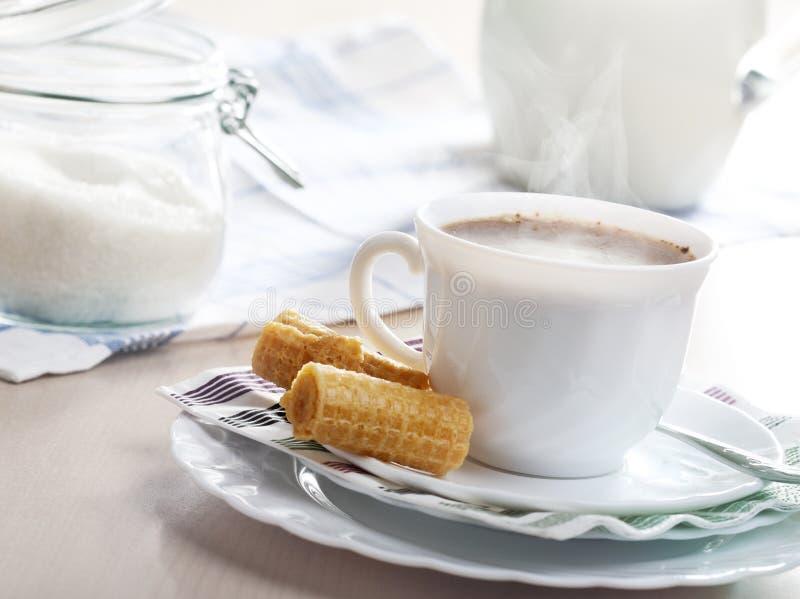 热早餐的咖啡 免版税库存图片