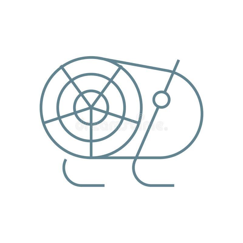 热气枪线性象概念 热气枪线传染媒介标志,标志,例证 皇族释放例证