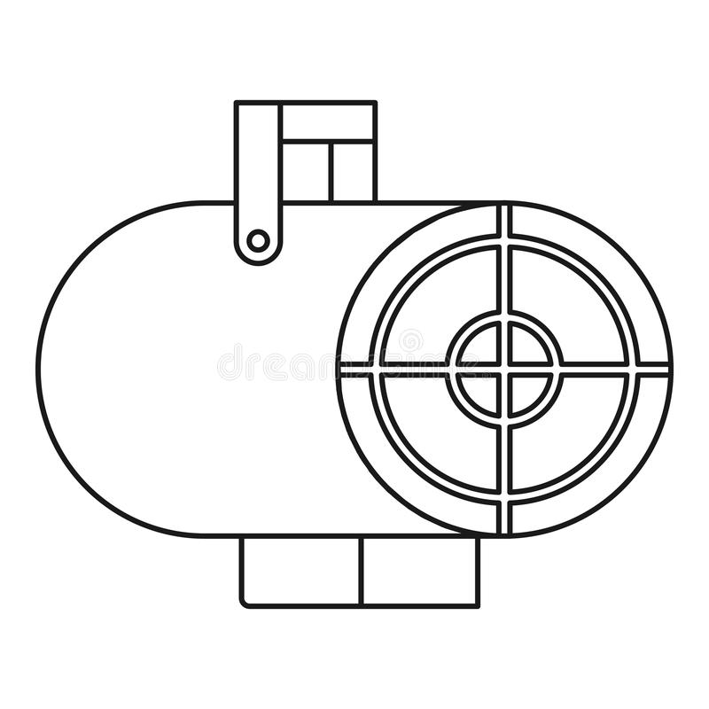 热气枪象,概述样式 向量例证