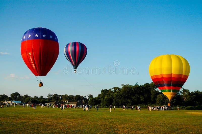 热气球的节日 免版税库存图片