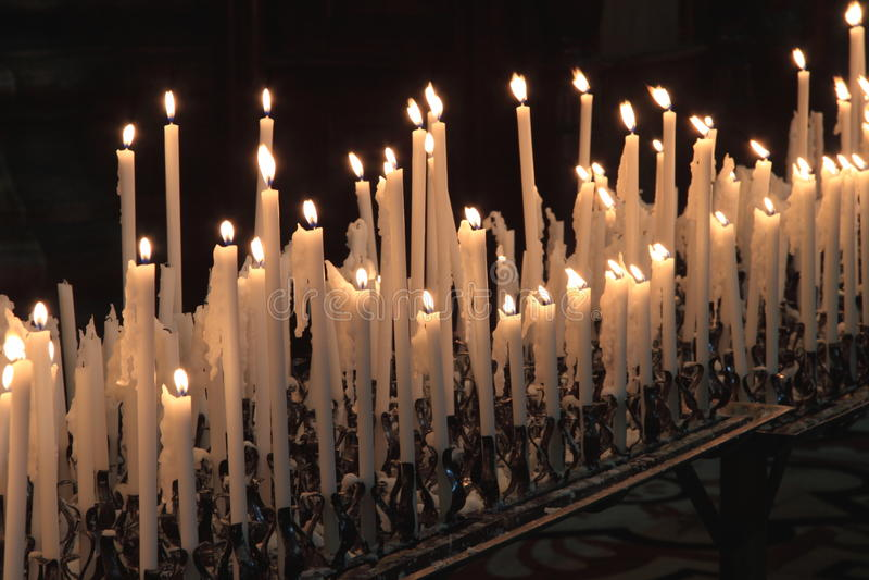热爱蜡烛 库存图片