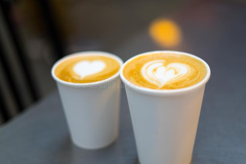 热用咖啡 库存照片