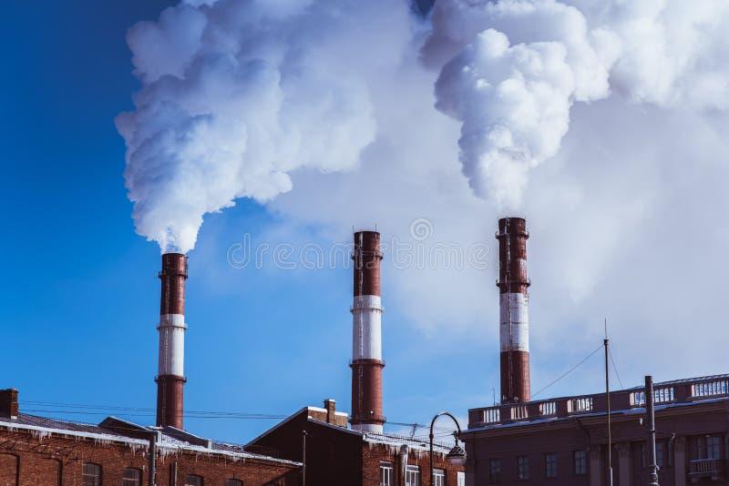 热电厂管道 库存照片