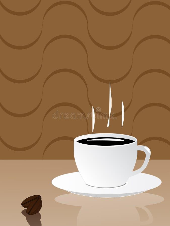 热的咖啡杯 皇族释放例证