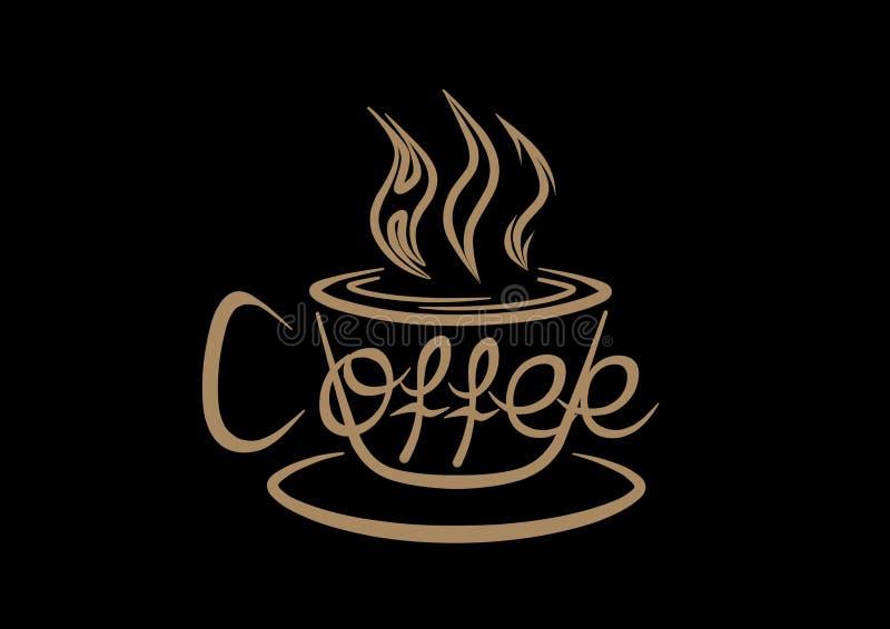 热的咖啡 库存例证