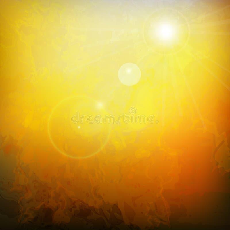 热的夏天传染媒介摘要背景 向量例证