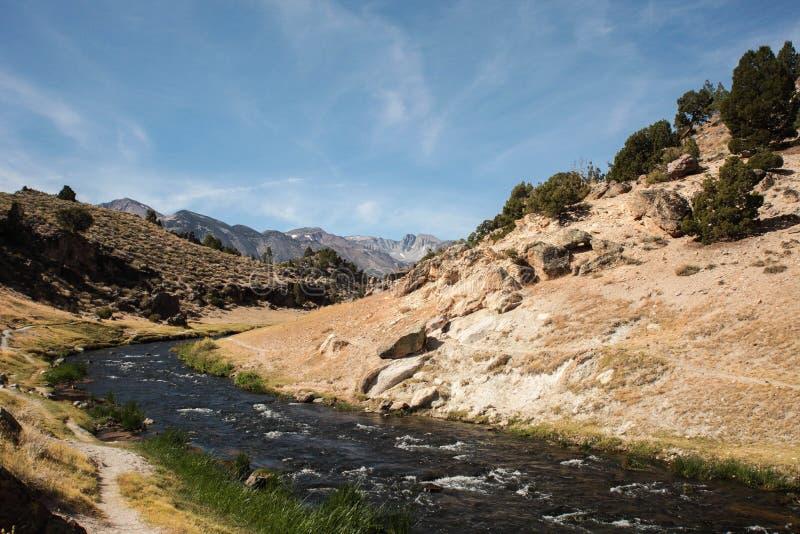 热的小河地质站点 免版税库存图片