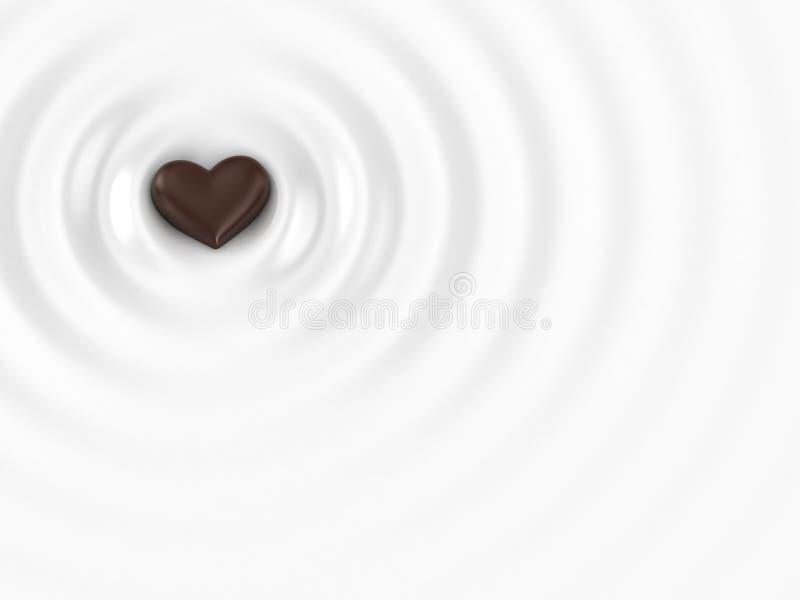 热的巧克力 库存例证