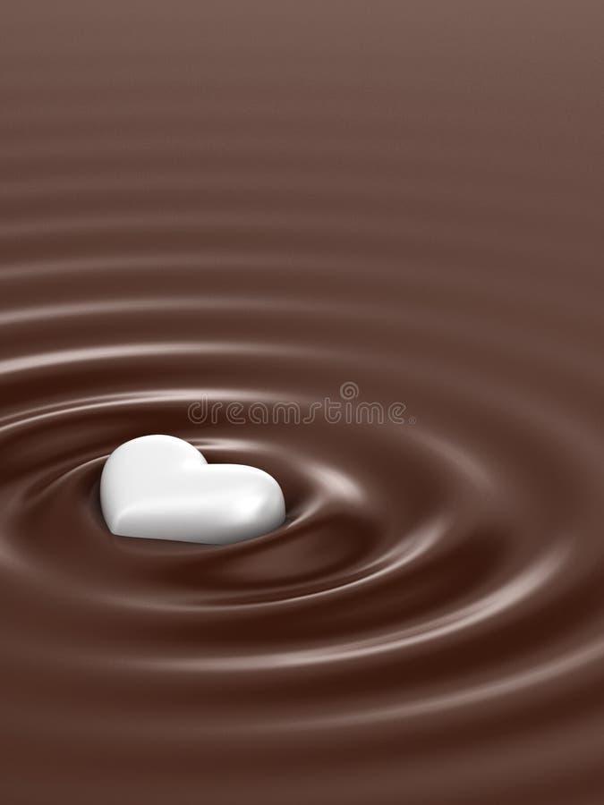 热的巧克力 皇族释放例证