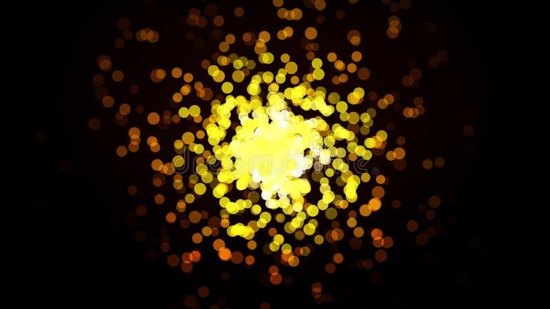 热的易爆的微粒的转折 重复驱散从一白色点的微粒的样式横渡和支持 向量例证