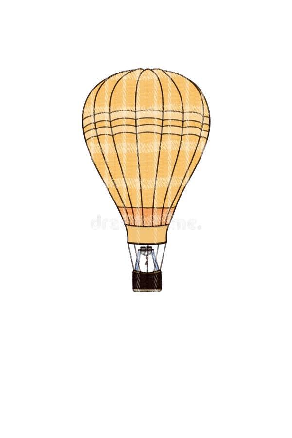 热的格子花呢披肩气球 图库摄影