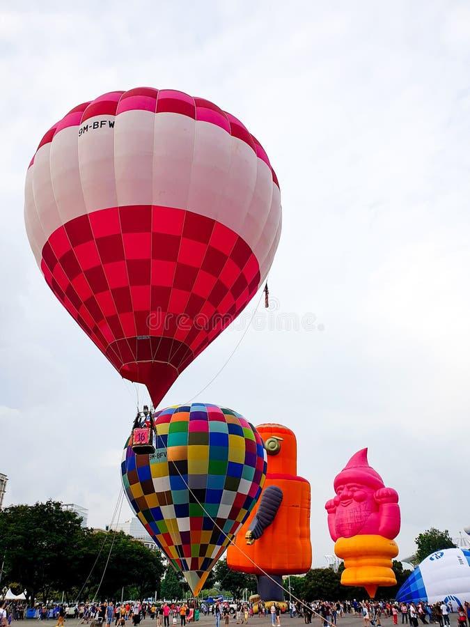 热的气球室外Skyride节日 库存照片